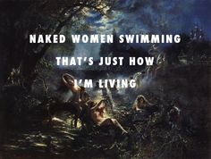 Drake and naked women swimming Mermaids (1879), Konstantin Makovsky / Furthest Thing, Drake