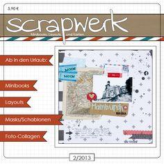 """Eine tolle Scrapbook-Kreation mit unseren """"MOIN""""-Marken auf dem Titel des """"scrapwerk""""-Magazins"""