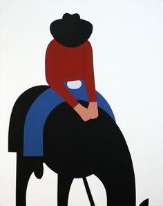 Geoff Mcfetridge - Cowboy - 2008  Heath Ceramics, Los Angeles California