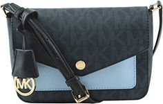 Women's Cross-Body Handbags - MICHAEL Michael Kors Womens Greenwich Small Flap Crossbody Baltic BlueLight Sky >>> Find out more about the great product at the image link.