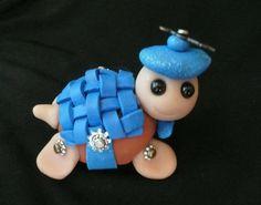 polymer clay turtle. i like the shell idea