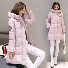 af2634f7a069f #Valentines #AdoreWe #YesStyle - #Cobogarden Hooded Long Padded Coat -  AdoreWe.com