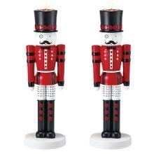 Nutcracker Tealight/Taper Holder - Red Set