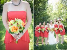persimmon wedding, green orchids, green hydrangeas