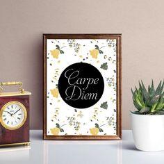 Carpe Diem, Printables, Create, Commercial, Pdf, Digital, Decoration, Business, Quotes
