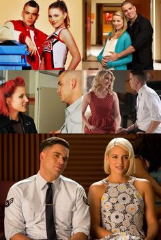 Puck and Quinn through the years <3