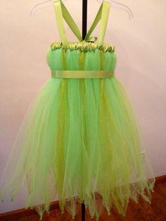 Tinkerbell Inspired Tutu Dress/ infant toddler/ sizes  NB-4T