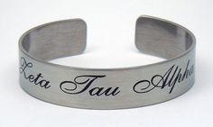 Zeta Tau Alpha, ZTA, Stainless Steel 6 or 7 Inch Braggin' Bracelet NEW