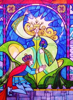 One day, I want all of the stained glass from Disney's Beauty and the Beast recreated in my house.