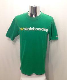 ff925073 90s ADIDAS SKATEBOARDING T Shirt / Rare Retro The Brand With Three Stripes  I Love Skateboarding
