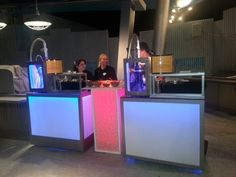 Colorful custom liquid nitrogen dessert bars and frozen drink bars to cater events, weddings and trade shows.  www.nitrogenicecreamorlando.com