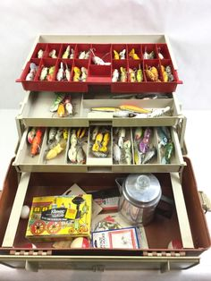 Lot 2016: Plano Fishing Tackle Box Vintage Lures March 12, 2016