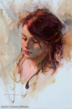 Browse Artist Painter Daniel F. Pastel Portraits, Watercolor Portraits, Cool Paintings, Beautiful Paintings, Figure Painting, Painting & Drawing, Beautiful Sketches, Oil Portrait, Traditional Paintings