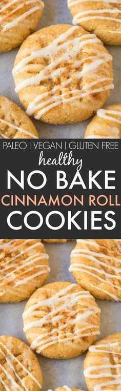 No Bake Cinnamon Roll Cookies (V, GF, Paleo)- Secretly HEALTHY no bake cookies LOADED with cinnamon flavor but made in one bowl and guilt-free! Refined sugar free and packed with protein! Perfect for Christmas, holidays, parties and events! {vegan, gluten free, paleo recipe}- http://thebigmansworld.com