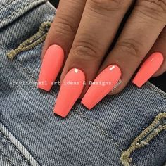 Want some ideas for wedding nail polish designs? This article is a collection of our favorite nail polish designs for your special day. Bright Summer Nails, Cute Summer Nails, Cute Nails, Summer Toenails, Aycrlic Nails, Nails 2018, Stiletto Nails, Coffin Nails, Simple Acrylic Nails