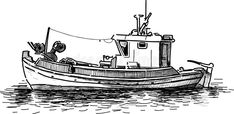 Illustration about Vector drawing of the old greek fishing boat. Illustration of marine, vessel, boat - 37667543 Boat Drawing, Line Drawing, Boat Sketch, Boat Vector, Hand Tattoos For Guys, Ship Paintings, Boat Art, Old Boats, Ink Pen Drawings