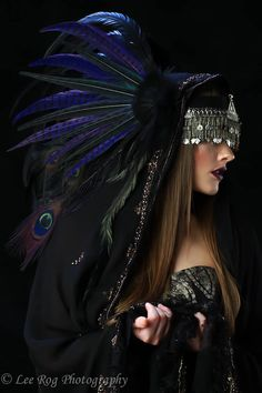 3 of 3 Reserved Custom Order for Marjolijn Putman - Feather Headdress - The Siren Feather Headdress