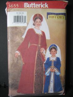 Butterick 5655 Medieval ladies - from my own collection of costume patterns