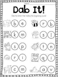 26 free beginning sounds worksheets | Print..., Teaching letters ...