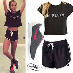 Maddie Ziegler posted a new video clip today showing off her dance skills. She wore the Forever 21 On Fleek Crop Top (sold out), shorts similar to the FILA Sport Compression Curve Running Shorts ($18.00), and Nike Free Sneakers ($140.00).
