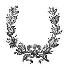 Vintage Clip Art - French Wreath Engraving - The Graphics Fairy...use for wedding table numbers