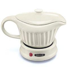 Bella Electric Gravy Boat Warmer White Ceramic 18 oz New  #Bella