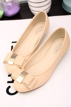 shoes - http://zzkko.com/n211062-IKI-home-Korean-version-of-flash-metal-buckle-double-bow-with-a-single-round-in-shoes.html $19.87