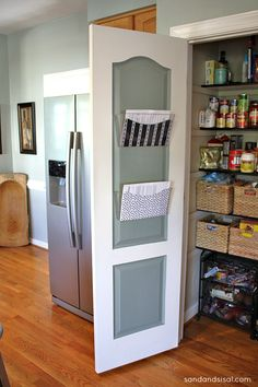 DIY:: Family Command Center in Closet ! Excellent Tutorial by Kim from Sand and Sisal. Love the accent color in the closet door Household Organization, Pantry Organization, Organizing, Family Command Center, Command Centers, Home Office, Closet Office, Getting Organized, Interior Design Living Room