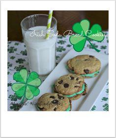 Irish Soda Bread Sandwich Cookies | www.wineladycooks.com #cookies #chocolatechip #stpatricksday @wineladyjo