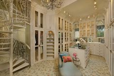 Richmond Estate - mediterranean - closet - houston - Patrick Berrios Designs #SPIRAL STAIRCASE
