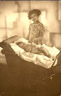 Riga, Latvia, 1941, Ester Gordon and the brother of Avraham Gordon. Both perished in the Holocaust.