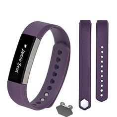 Hunputa Small Size Replacement Wristband Band Strap + Buckle For Fitbit Alta Wristband Bracelet (Purple)