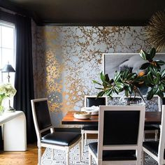 In love with this design from @benjaminvandiver and the gorgeous @calicowallpaper #nashvilledesign #domino #haydenpanettiere
