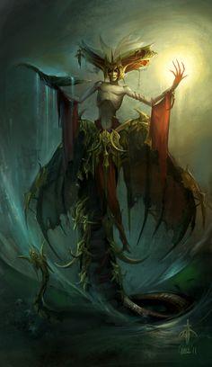 God of Oblivion by Nightblue-art.deviantart.com on @deviantART