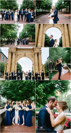 Summer downtown Columbus Ohio Wedding Photography with Navy and Blush wedding colors