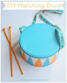 So cute! A diy marching drum