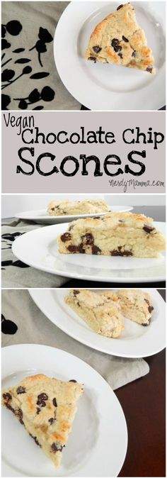 These vegan chocolate chip scones are a super-yummy breakfast. Easy for Christmas morning or any day, really. Soft, fluffy, dotted with chocolate, dairy-free and eggless, they're perfect in every way.
