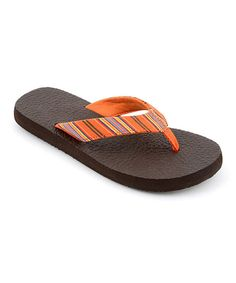 8b7da1cff Corkys Footwear Orange Stripe Exercise Flip-Flop