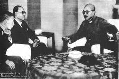 Subhas Bose with Hideki Tojo
