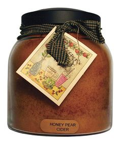 Take a look at this Honey Pear Cider Papa Jar Candle by A Cheerful Giver on #zulily today!