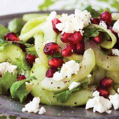Cucumber and Pomegranate Salad