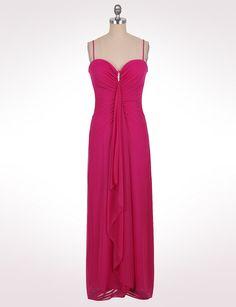 Misses | Dresses | Long Dresses | Shirred Cascade Dress | dressbarn
