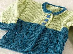 Ravelry: Cold Spring Baby Cardigan pattern by Bonnie Sennott
