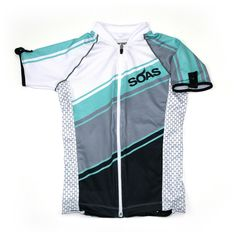Details: Our newest SOAS Cycling Jersey in the Team Race 2015 Collection. Fitted and contoured to mimic the curves of a woman's body with other feminine accents