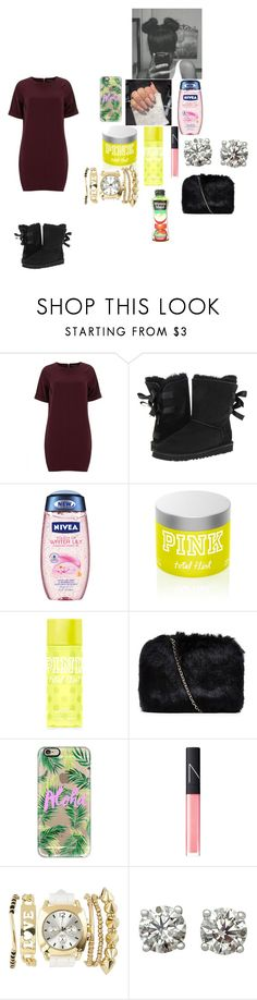 """""""Church outfit"""" by foodislyfe ❤ liked on Polyvore featuring Dorothy Perkins, UGG Australia, Nivea, Victoria's Secret, Casetify, NARS Cosmetics and Charlotte Russe"""