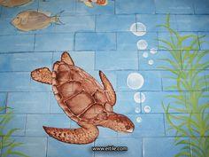 #Iranian_ceramic_for_swimming_pool Swimming Pool Tiles, Iranian, Turtle, Dinosaur Stuffed Animal, Ceramics, Toys, Drawings, Animals, Ceramica