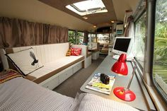 Bus converted to tiny house bus