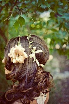 romantic hair.