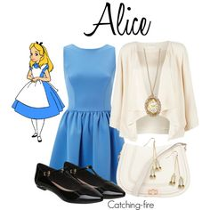 """""""Alice in Wonderland"""" by catching-fire on Polyvore    What kind of garden do you come from?"""