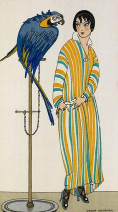 Gerda Wegener - Lady & Parrot
